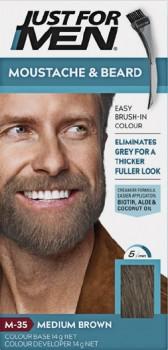 Just-For-Men-Moustache-Beard-Colour-Medium-Brown-40mL on sale