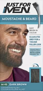 Just-For-Men-Moustache-Beard-Colour-Dark-Brown-40mL on sale