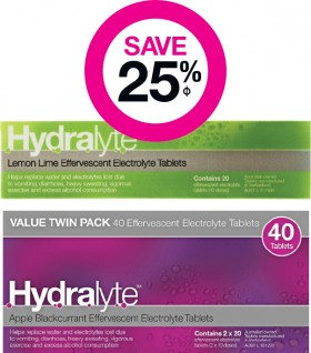 Save-25-on-Selected-Hydralyte-Effervescent-Products on sale
