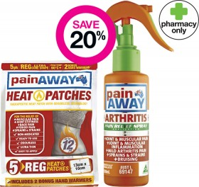 Save-20-on-Selected-Pain-Away-Products on sale