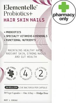Elementelle-Probiotics-Hair-Skin-Nails-30-Capsules on sale