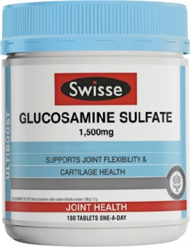 Swisse-Glucosamine-Sulfate-1500mg-180-Tablets on sale