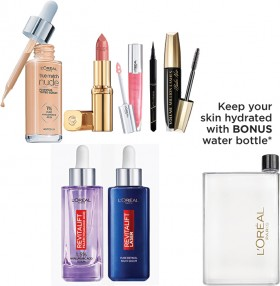 Spend-40-on-Any-LOral-Paris-Makeup-or-Skincare-Product-and-Receive-a-BONUS-Water-Bottle on sale
