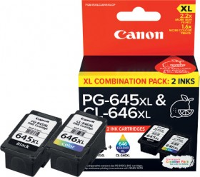 Canon-PG-645XL-Black-and-CL-646XL-Tri-Colour-Two-Ink-Value-Pack on sale