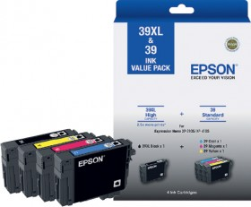 Epson-39XL-Black-and-39-Colour-Four-Ink-Value-Pack on sale