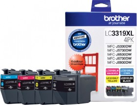Brother-LC3319XL-Black-and-Colour-Four-Ink-Value-Pack on sale