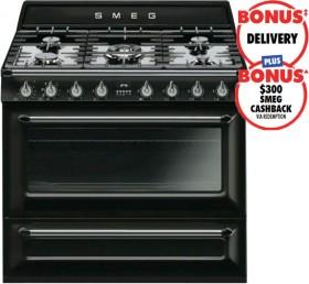 Smeg-90cm-Victoria-Dual-Fuel-Upright-Cooker on sale