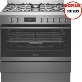 Westinghouse-90cm-Dual-Fuel-Upright-Cooker on sale