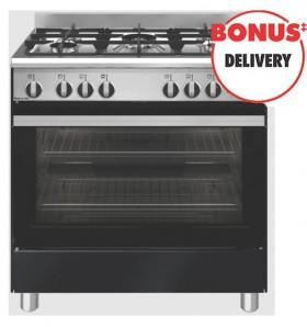Emilia-80cm-Gas-Upright-Cooker-Black-Gloss on sale