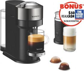 Nespresso-Vertuo-Next-Deluxe-Bundle-Dark-Chrome on sale