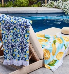 Heritage-Santorini-Beach-Towels on sale