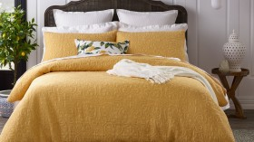 Heritage-Marcelle-Quilted-Quilt-Cover-Set-in-Yellow on sale