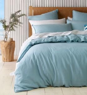 Australian-House-Garden-Sandy-Cape-Washed-Belgian-Linen-Quilt-Cover-Set-in-Ocean on sale