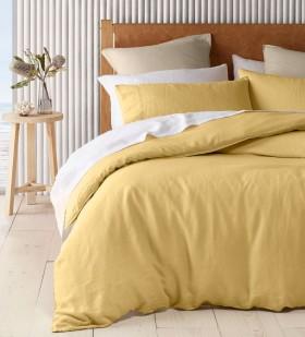Australian-House-Garden-Sandy-Cape-Washed-Belgian-Linen-Quilt-Cover-Set-in-Saffron on sale