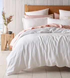 Australian-House-Garden-Sandy-Cape-Washed-Belgian-Linen-Quilt-Cover-Set-in-White on sale
