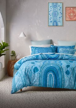 Emma-Stenhouse-X-Vue-Meeting-Place-Cotton-Quilt-Cover-Set-in-Blue on sale