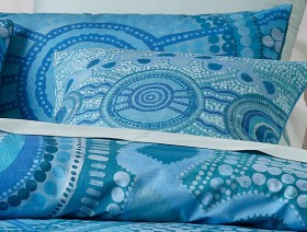 Emma-Stenhouse-X-Vue-Meeting-Place-Piped-Cushion-in-Horizon-Blue on sale