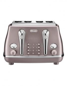 Delonghi-Icona-Metallics-4-Slice-Toaster-in-Pink on sale