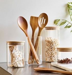 The-Cooks-Collective-Acacia-Utensils-and-Canisters on sale