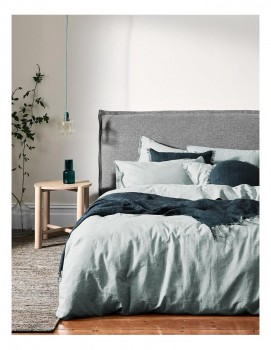 Aura-Home-Chambray-Fringe-Linen-and-Cotton-Quilt-Cover-in-Mineral on sale