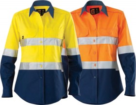 ELEVEN-Womens-AEROCOOL-Hi-Vis-Spliced-LS-Shirt-with-Perforated-3M-Tape on sale