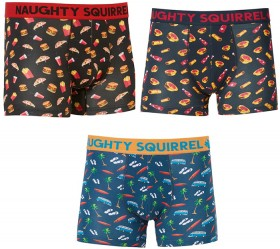 NEW-Naughty-Squirrel-Mid-Length-Trunks-Fast-Food-Tropical-Pies-Sausage-Rolls on sale
