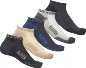 ELEVEN-Bamboo-5-Pack-Ankle-Socks-Multi-Colours on sale