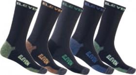 ELEVEN-Bamboo-5-Pack-Crew-Socks-BlackMulti on sale