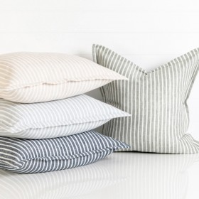 Sahara-Linen-Striped-Feather-Cushion-by-MUSE on sale