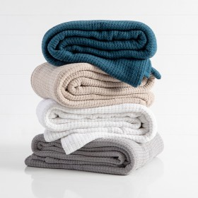 Knit-Weave-Cotton-360gsm-Blanket-by-Hilton on sale