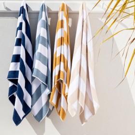 Sundays-Byron-Stripe-Beach-Towel-by-Pillow-Talk on sale