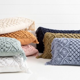 Macrame-Oblong-Cushion-by-MUSE on sale