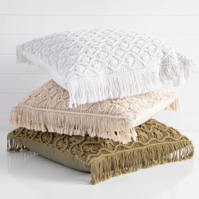 Macrame-Large-Square-Cushion-by-MUSE on sale