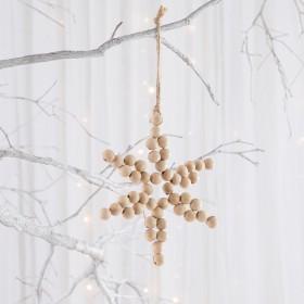 Noelle-Beaded-Decoration-Star-by-Habitat on sale