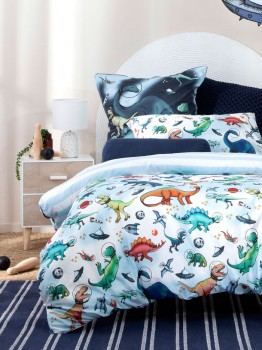 Kids-Space-Dino-Quilt-Cover-Set on sale