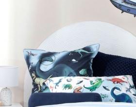Kids-Space-Dino-European-Pillowcase-by-Pillow-Talk on sale