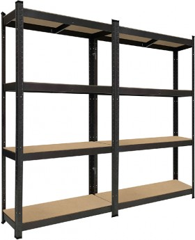 4-Tier-Garage-Shelf-Unit-2Pk on sale