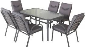 Brandon-6-Seater-Steel-Dining-Setting on sale