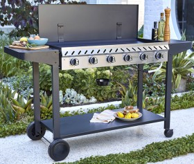 Grilled-Deluxe-6-Burner-BBQ on sale