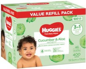 Huggies-400-Pack-Wipes-Cucumber-Aloe on sale