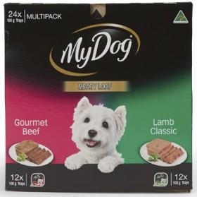 My-Dog-24-Pack-Tinned-Dog-Food-Varieties-100g on sale