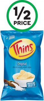 Thins-Chips-150-175g on sale