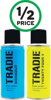 Tradie-Mens-Body-Spray-160ml on sale