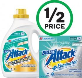 Biozet-Attack-Plus-Laundry-Liquid-2-Litre-or-Powder-2-kg on sale