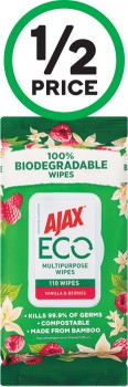 Ajax-Eco-Antibacterial-Disinfectant-Cleaning-Wipes-Pk-110 on sale