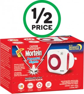 Mortein-Peaceful-Nights-Automatic-Plug-In-Pk-1 on sale