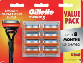 Gillette-Fusion-Manual-Razor-Blades-Pk-8 on sale