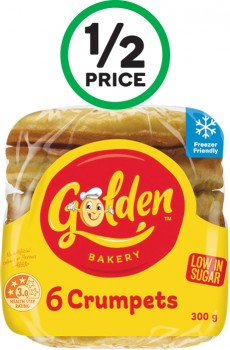 Golden-Crumpet-Rounds-Pk-6 on sale