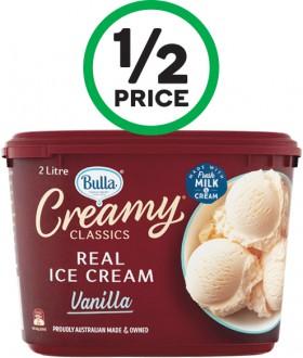 Bulla-Creamy-Classics-Ice-Cream-2-Litre-or-Bulla-Creamy-Classics-Sandwiches-560ml-Pk-4 on sale