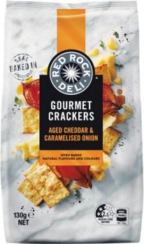 Red-Rock-Deli-Gourmet-Crackers-130g on sale